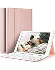 ipad Case 9.7 inch 2018 with Bluetooth Keyboard, Lachesis iPad Air 1/2 Case with Keyboard 2017, Slim Shell Cover with Magnetically Detachable Keyboard for iPad 6th / 5th
