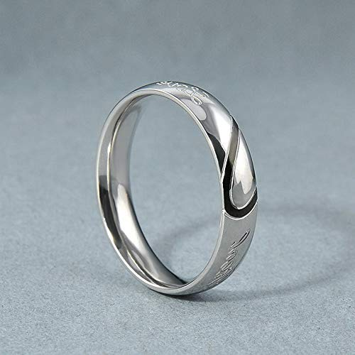 (Rhame Stainless Steel Women Men Love Heart Couple Band Ring Engagement Wedding Promise | Model RNG - 9401 | 5)
