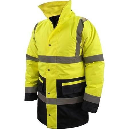 Silverline 633984 Zweifarbige Warnschutzjacke