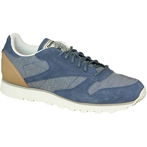 Reebok - CL Leather Fleck - AQ9722 - Color: Blue - Size: 8.0