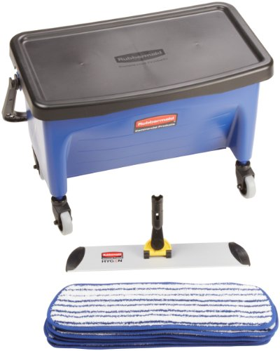 Microfiber Floor Finishing System (Rubbermaid Commercial Microfiber Finishing Floor Kit with Bucket and Finish Pads, 18-Inch)