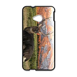 The Attractive Deer Picture Hight Quality Plastic Case for HTC M7