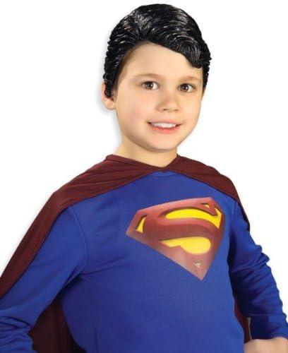 Vinilo disfraz peluca: Superman- niño: Amazon.es: Oficina y papelería