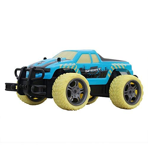 UniDargon Y181B 1:18 Scale Racing Car Radio 27MHZ Remote Control System with 4CH Topspeed Drift & Climbing High Speed Electric Remote Control Off Road Truck(Blue) -