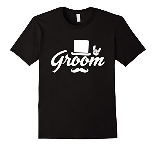 Groom Top Hat (Mens Groom Bachelor Party T-Shirt Top Hat Rock On Tee 2XL Black)