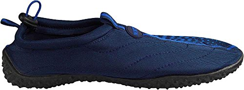 NORTY Herren Aqua Socke Wave Water Schuhe - 10 Farbkombinationen - Waterproof Slip-Ons für Pool, Strand und Sport Marine Royal