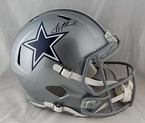 Troy Aikman Autographed Dallas Cowboys Full Size Speed Helmet- Beckett Auth Black