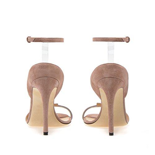Fibbia Tacchi Donna Altis Abito Pompa Nudecolor Caviglia Elegante Sandali Semplice TwnU5Zqw