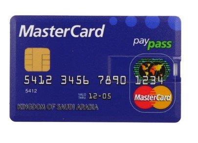 Llave USB, tamaño de Tarjeta de Crédito (16GB), USB 2.0 – Tarjeta USB Memory Stick – Flash Drive MasterCard