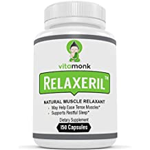 RELAXERIL™ - Powerful Natural Muscle Relaxers By VitaMonk - For Spasms, Sore Muscles and Tightness With This Natural Muscle Relaxer Supplement - 150 Relaxant Capsules - Relax Tension and Get Relief