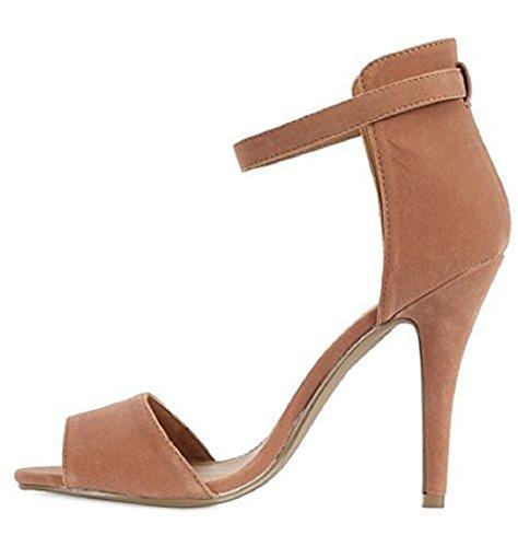 Saute Styles - Zapatos de vestir para mujer color carne