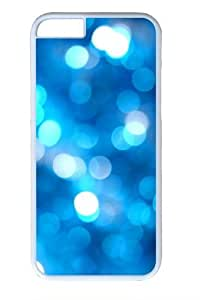 Blue Bubbles bokeh Custom iphone 6 plus 5.5 inch Case Cover Polycarbonate White
