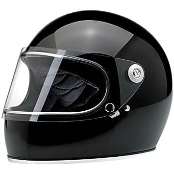 Biltwell Gringo S - Casco integral de moto, de color negro brillante, talla S