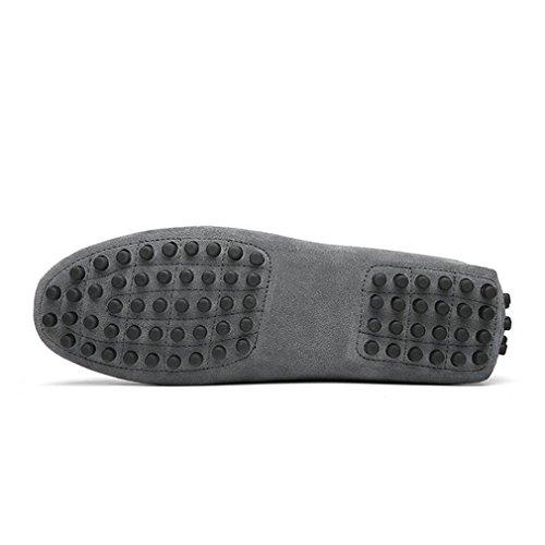 appartements en mocassins cuir hommes hommes Gray chaussures chaussures Mode Lumino Style mocassins doux véritable d'été conduite wxq8t0n7a1