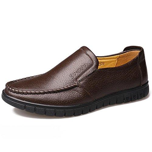 Zapatos M de Zapatos Brown amp;M de de conducción Zapatos al Zapatos Trabajo de Ancianos Libre Aire Zapatos Negocios Hombre para CwFp5qw
