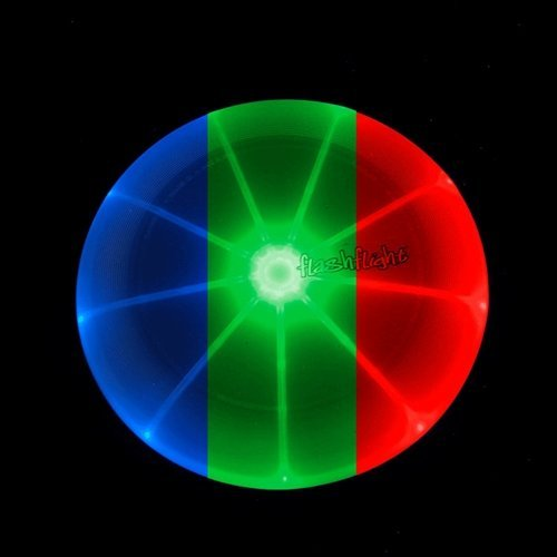 Nite-ize Flashflight Jr LED Light Up Flying Disc - Disco (multicolor lights)