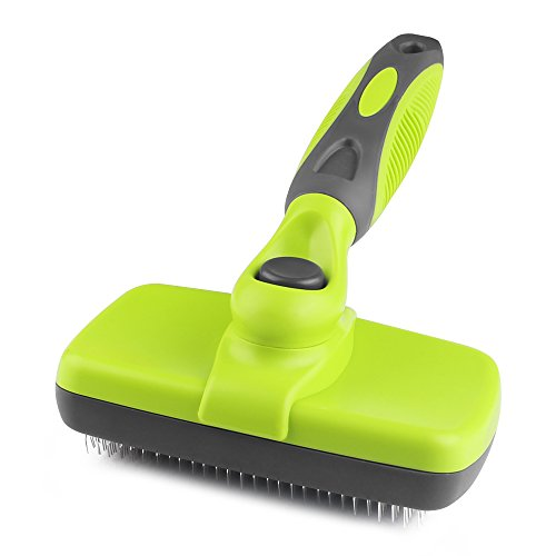 Rosmax Self Cleaning Slicker Brush,dog Brush For Grooming,removes Tangled Knots,mats,undercoat And L