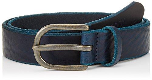 Armani Exchange Men's Embossed Ax Leather Belt, navy, 40 (Ax Men Belt)