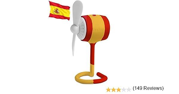 Ventilador Telego Masterpal mini silencioso (bandera española): Un ...