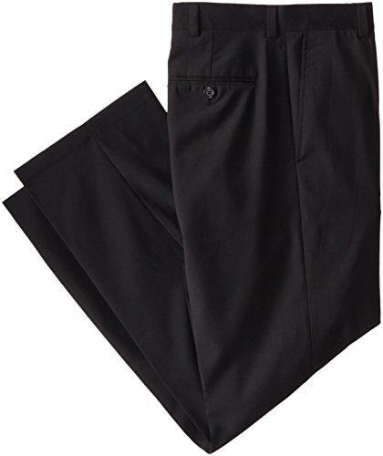 Geoffrey Beene Men's Flat Front Wool Blend Dress Pant, Black, - Blend Pants Wool