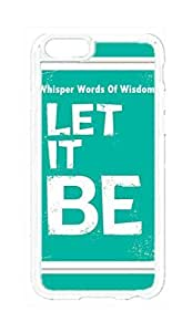 Custom a iPhone 6 Plus 5.5 inch Case , Whisper to Words Of Wisdom Let It Be Hard Plastic Protective Cases Cover --427 lights TOOT0 Case