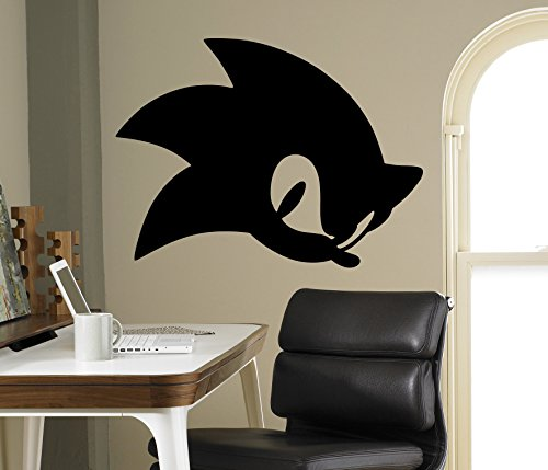 (Sonic Hedgehog Vinyl Decal Sonic Wall Vinyl Sticker Video Game Cartoons Home Interior Children Kids Room Decor)