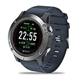 Zeblaze Super Lightweight Vibe 3 HR Smart Watch, Rugged Inside Out HR Monitor 3D UI All-Day Activity Record 1.22' IPS IP67 Waterproof Smart Watch for Activity Tracker Blue