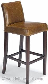 Enjoyable Atlantic Shopping Jasper Leather Bar Stool Oak Black Andrewgaddart Wooden Chair Designs For Living Room Andrewgaddartcom