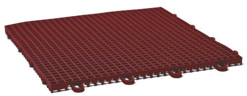 DuraGrid CR12BRIK Cross-Rib Design, Interlocking Modular Self-Draining Multi-Use Safety Floor Matting (12 Pack), Brick Red by DuraGrid® (Image #1)