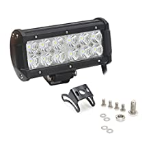 Green-L 7 Inch 36w Flood-CA LED Work Light Off Road LED Light Bar 12v Driving Lights Super Bright for Jeep Cabin Boat SUV Truck Car ATVs,2 Years Warranty