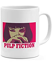 Mia Wallace Pulp Fiction 11oz Coffee Mug Retro Movie Poster 11oz Ceramic Novelty Mug