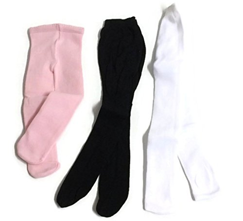 - Doll Clothes Fits American Girl Doll and Other 18 Inch Dolls, 3 pair of doll tights White, Black, Pink, Doll Accessories