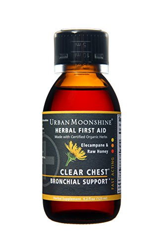 Clear Chest Herbal Bronchial Support Syrup with Organic Herbs + Raw Honey -- 4 fl oz Organic Clear Honey