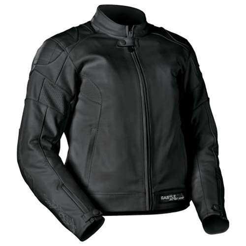 4211bc8feceb Amazon.com: Castle X Ladies Profile Black Leather Jacket - Size 10:  Industrial & Scientific