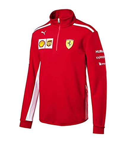 165c3d1330985c Scuderia Ferrari F1 Racing SF Team Puma Half Zip Jumper Fleece Red Official  2018