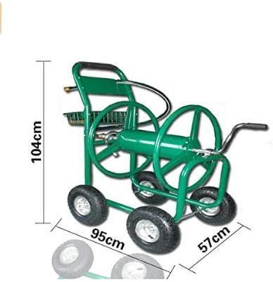 KYD Carro de Manguera de jardín, Carrete de Carrete con Capacidad de hasta 90 m para Manguera de 21 mm, portátil, 4 Ruedas, Soporte para Carrete de Manguera: Amazon.es: Jardín