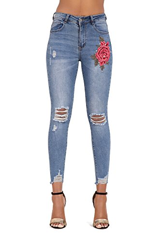 Donna Light Wash Acid Blue Lustychic Jeans 5zqwOO