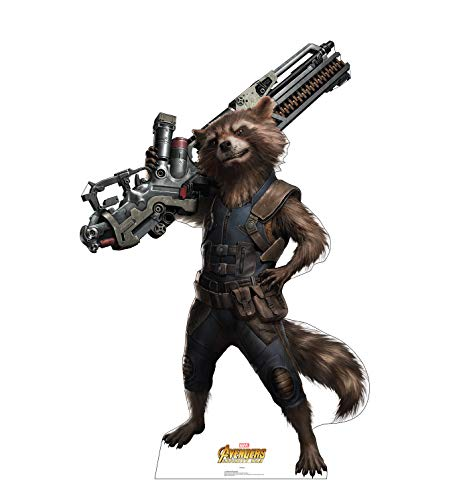 Advanced Graphics Rocket Raccoon Life Size Cardboard Cutout Standup - Marvel's Avengers: Infinity War (2018 -