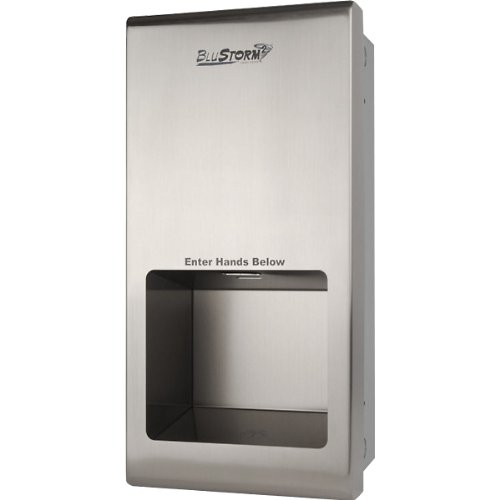 KegWorks BluStorm Recessed High Speed Touchless Hand Dryer