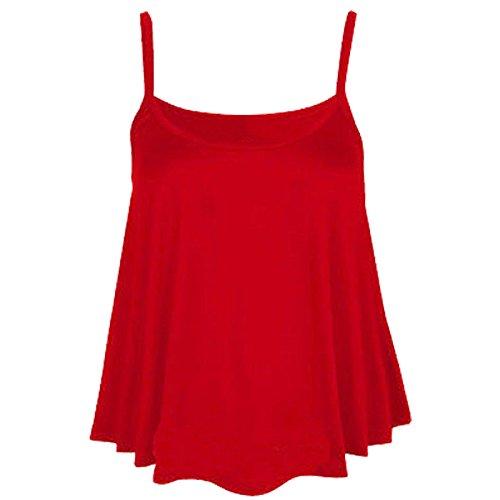 Fashion Fever London Ltd - Camiseta para mujer (tirantes, talla grande) Rosso