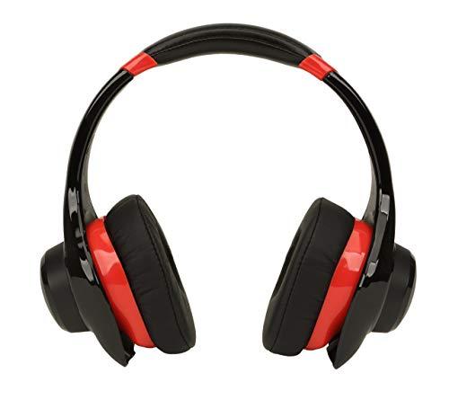 Denon AH-D320RD Urban Raver On-Ear Headphones (Red) OPEN BOX (Renewed) (Denon On Ear Headphones)
