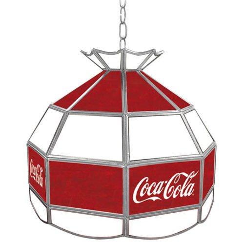 "Price comparison product image Coca-Cola Tiffany Gameroom Lamp,  16"""