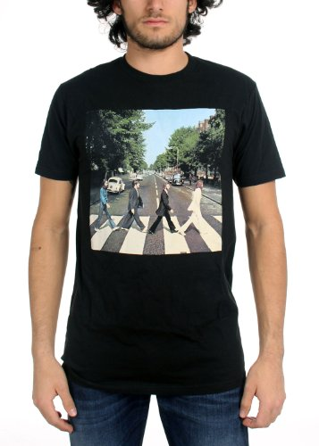 The Beatles Abbey Road Adult T-shirt Black (Beatles Black T-shirt)