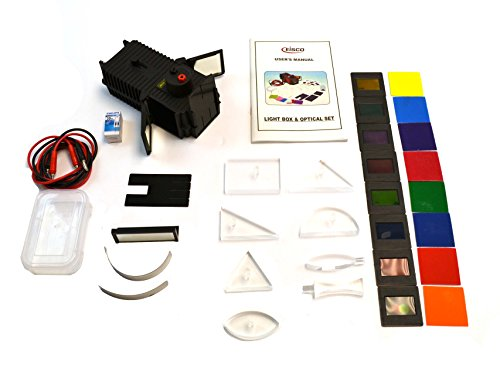 (Eisco Labs Light Box - 27 Piece Optical Kit, Covering 18 Topics in Optics with Full Activity)