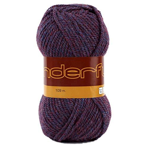 - Wonderful 4 Pack (Skeins) Worsted Weight Yarn Wool 50% Acrylic 50% Each Skein 3 oz (85g) 119 Yards (109m) (Purple Mix)