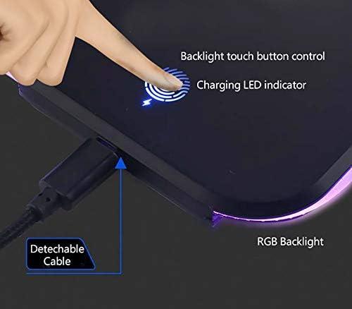 RGB Backlight i-Rocks C16E Wireless Charging /& Illuminated Mouse Pad Large Mouse mat
