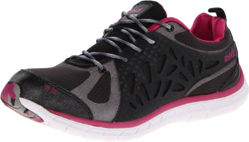 RYKA Women's Precision Cross-Training Shoe,Black/Dark Pink/White,6 M US