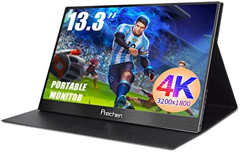 PORTABLE MONITOR,13.3 INCH USB-C PORATBLE DISPLAY,3200X1800 COMPUTER MONITOR GAME SCREEN TYPEC-C HDMI MONITOR FOR LAPTOP PC MAC PHONE XBOX,PROTECT CASE INCLUDED PRECHEN