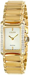 "Citizen Women's EG2962-51A ""Euphoria"" Diamond-Accented Stainless Steel Eco-Drive Watch"