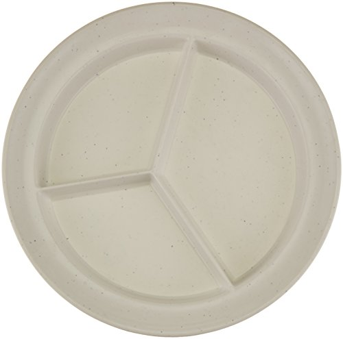 artment Dish, Light Grey Fleck, Durable Polyester Dishes Separate Food Into 3 Sections, 8.75